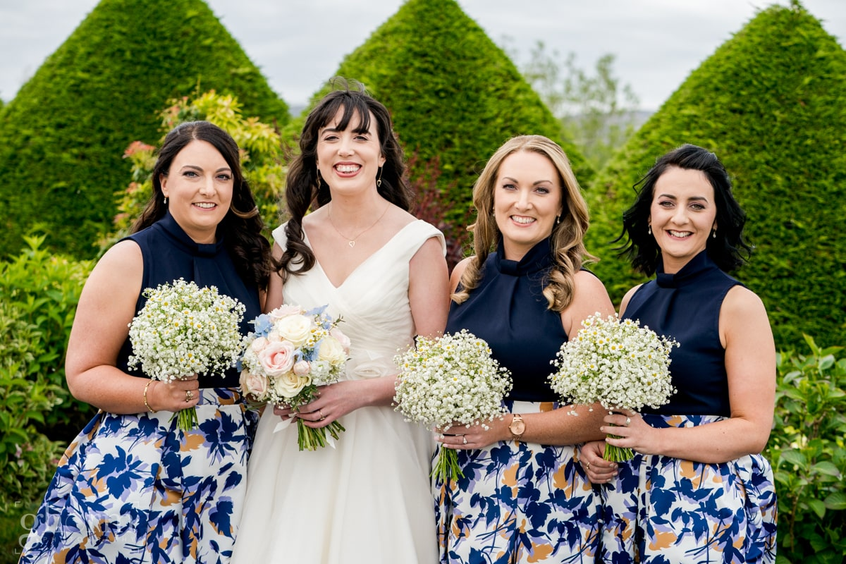 Harveys Point hotel Wedding, Paul McGinty Ghorm Studio Photography, spring wedding, bride and her bridesmaids