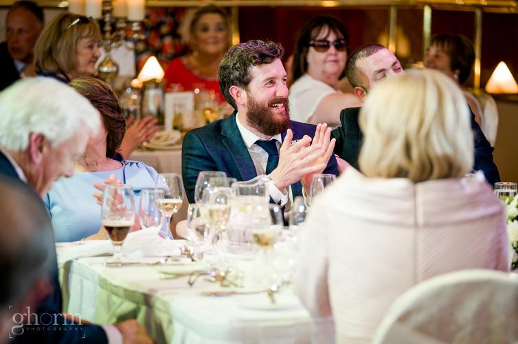 Harveys Point hotel Wedding, Paul McGinty Ghorm Studio Photography, spring wedding, the speeches