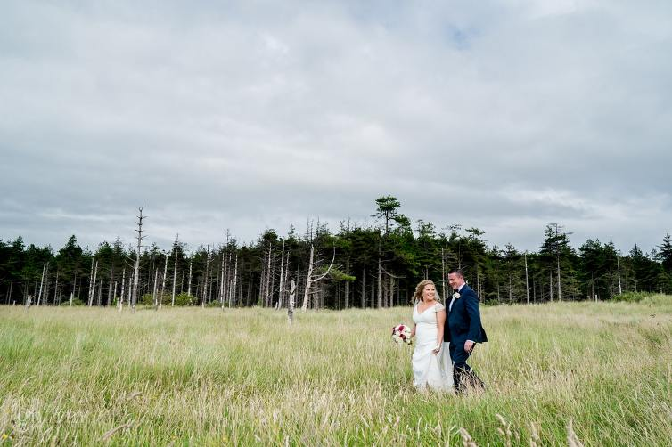 Bride and groom on their wedding day in the Villa Rose hotel Ballybofey, Co Donegal, Ireland. Photo by Paul McGinty from Ghorm Studio Photography