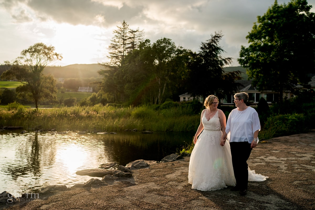 same sex female wedding in harvey's Point, Co Donegal, Ireland. Photo by Paul McGinty from Ghorm Studio Photography.