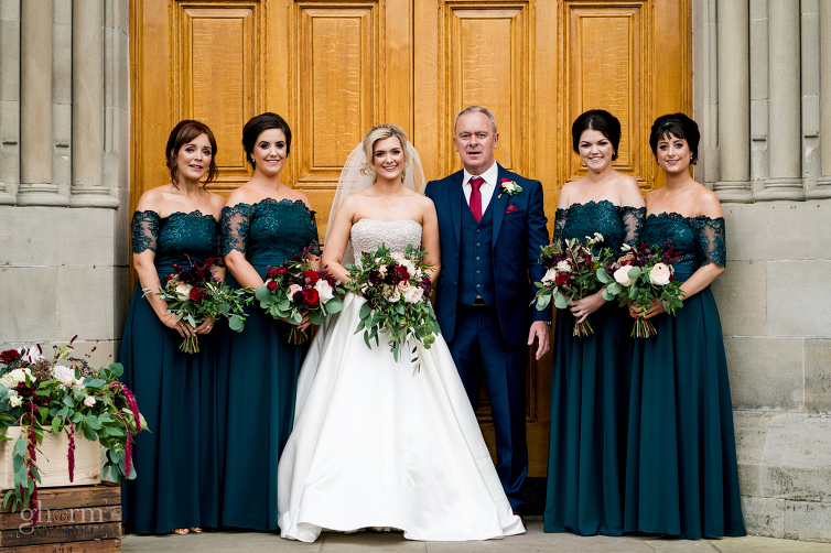 The bridesmaids, Lough Eske Castle wedding, Photos by Paul McGinty, Ghorm Studio Photography, covering Donegal, Sligo , Leitrim, Mayo , Fermanagh and the North West of Ireland.