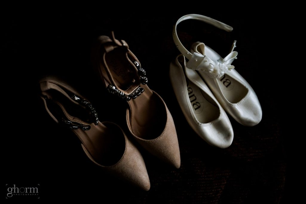 brides wedding and christening shoes, bride and groom in donegal best wedding venue, harvey's point hotel on the shore of Lough Eske, Ghorm Studio Photography, donegal, sligo and leitrim wedding photographer