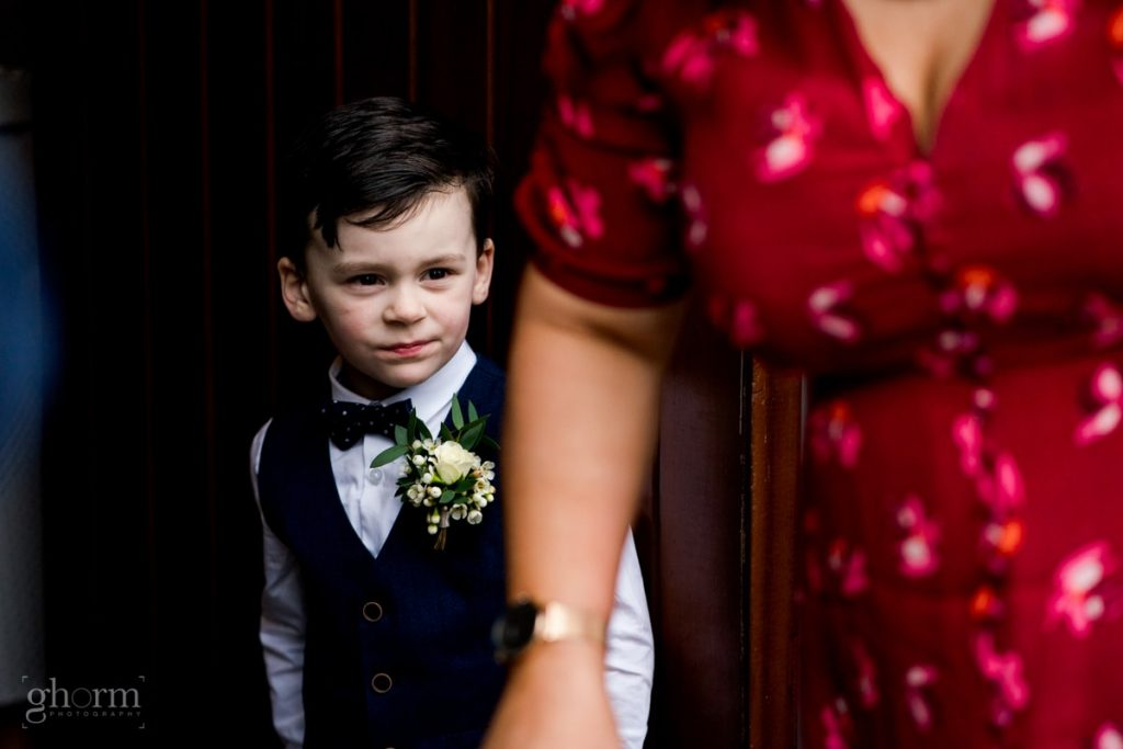 pageboy bride and groom in donegal best wedding venue, harvey's point hotel on the shore of Lough Eske, Ghorm Studio Photography, donegal, sligo and leitrim wedding photographer