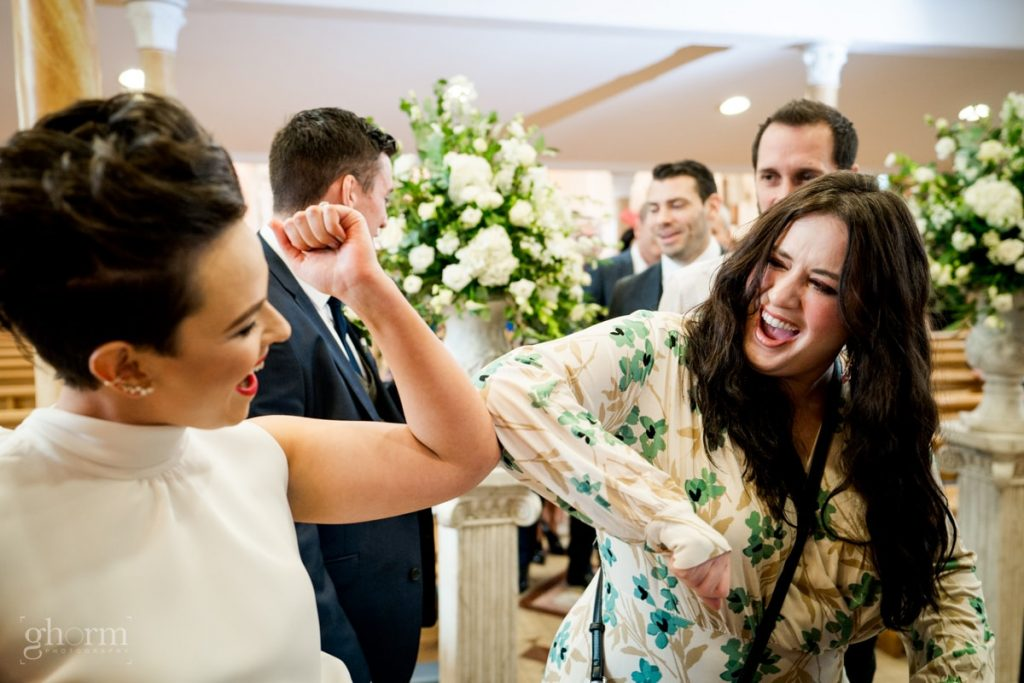 guests congratulating the bride and groom, bride and groom in donegal best wedding venue, harvey's point hotel on the shore of Lough Eske, Ghorm Studio Photography, donegal, sligo and leitrim wedding photographer