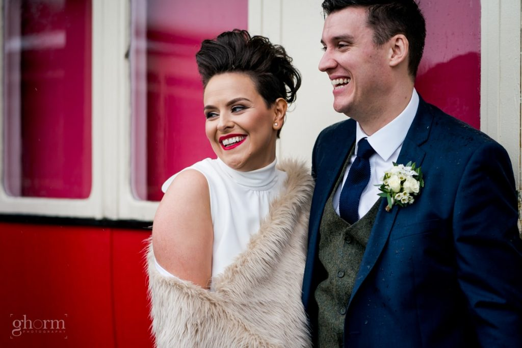 bridal portraits, bride and groom in donegal best wedding venue, harvey's point hotel on the shore of Lough Eske, Ghorm Studio Photography, donegal, sligo and leitrim wedding photographer
