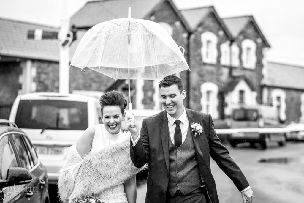 bride and groom in donegal best wedding venue, harvey's point hotel on the shore of Lough Eske, Ghorm Studio Photography, donegal, sligo and leitrim wedding photographer
