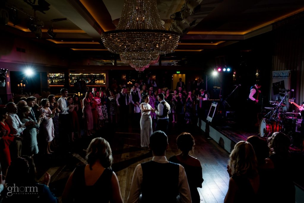 the first dance in harvey's point, bride and groom in donegal best wedding venue, harvey's point hotel on the shore of Lough Eske, Ghorm Studio Photography, donegal, sligo and leitrim wedding photographer