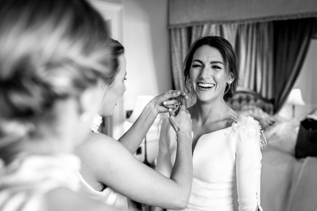 giggles, Lough Eske castle wedding, Autumn 2019, best wedding venue, photo by Paul McGinty from Ghorm studio photography, Donegal Town, Ireland