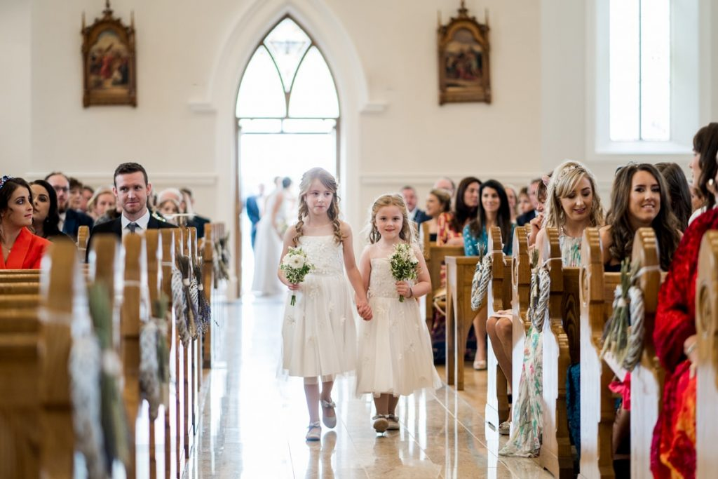 the flower girls, Lough Eske castle wedding, Autumn 2019, best wedding venue, photo by Paul McGinty from Ghorm studio photography, Donegal Town, Ireland