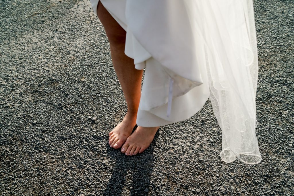 bride in bare feet, Lough Eske castle wedding, Autumn 2019, best wedding venue, photo by Paul McGinty from Ghorm studio photography, Donegal Town, Ireland