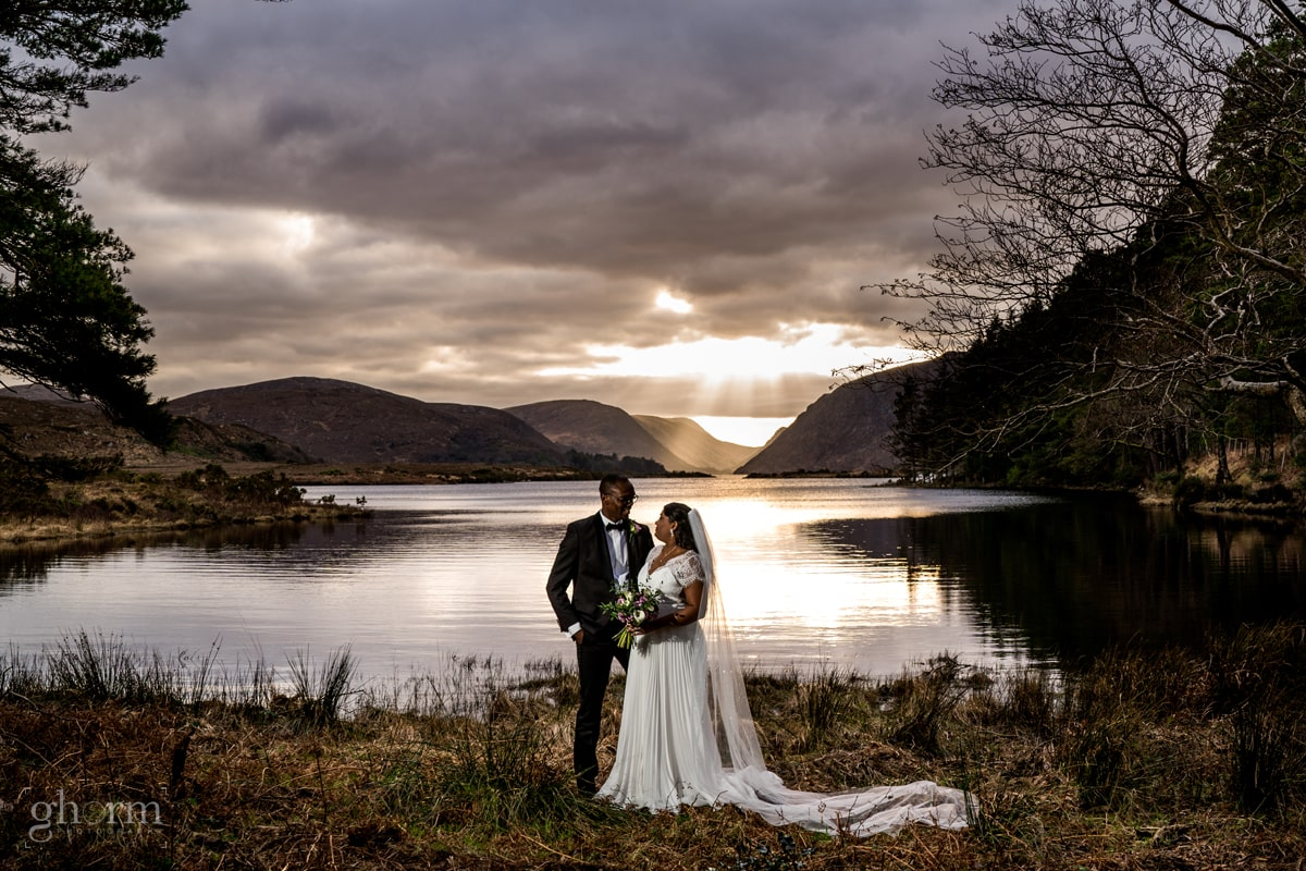 bride and grooms cover 19 intimate winter wedding in Letterkenny's Cathedral and Glenveagh National Park. Photo by Paul McGinty from Ghorm Studio Photography, Lough Eske, Donegal Town.