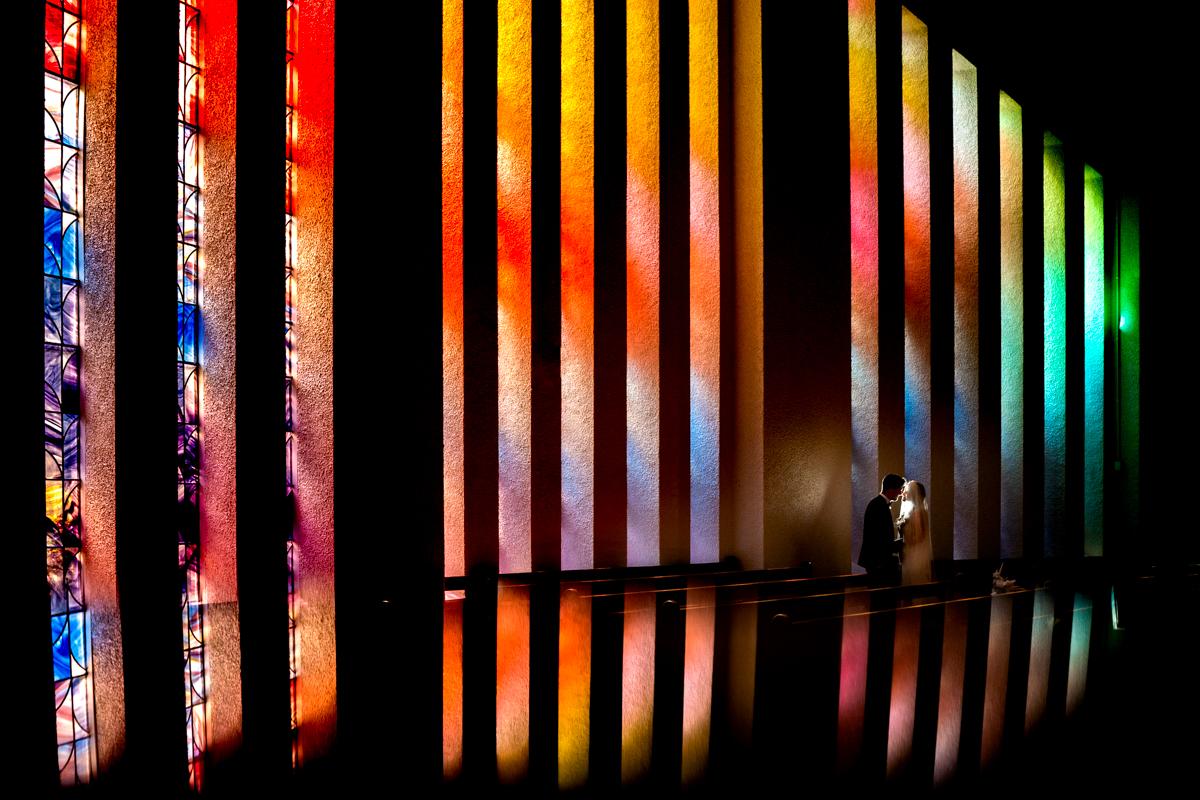 Dromore church Co Tyrone, stain glass window, wedding photo by Paul Mcginty Ghorm studio photography
