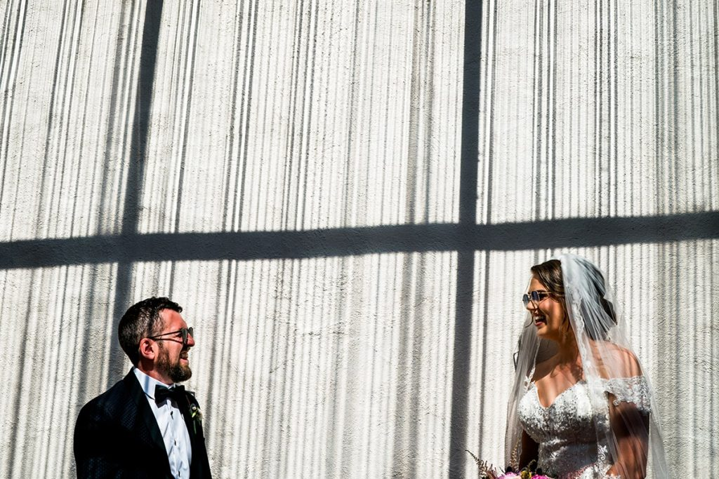 bride and groom, creative photo in Leo's Tavern, Marquee wedding in Annagry, Co Donegal Ireland, Photo by Paul McGinty, Ghorm Studio Photography.